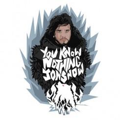 تیشرت پسرانه You know nothing jon snow