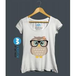 تیشرت دخترانه Cut Hipster Girl Owl