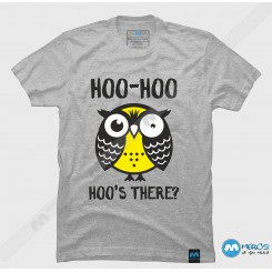 تیشرت طرح Owl Hoo hoo hoo's there