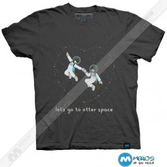تیشرت طرح Let's Go to Otter Space