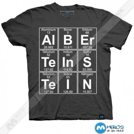 تیشرت طرح Al-B-Er-Te-In-S-Te-I-N (Albert Einstein)