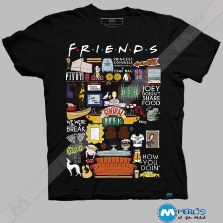 تیشرت طرح سریال Friends ,Stuff