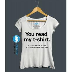 تیشرت دخترانه You Read My T-Shirt