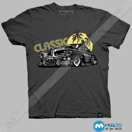 تیشرت طرح Classic Old School Cars