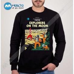 آستین بلند سویشرتی tin tin explore on the moon