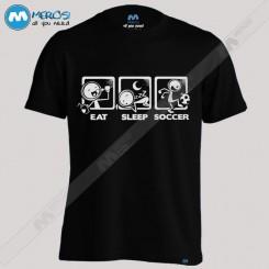 تیشرت طرح Eat Sleep Soccer