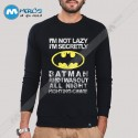 آستین بلند سویشرتی Im Not Lazy batman
