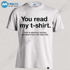 تیشرت طرح you read my t-shirt