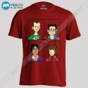 تیشرت طرح Big Bang Theory Faces