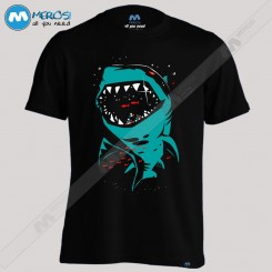 تیشرت طرح Shark with pixelated teeth