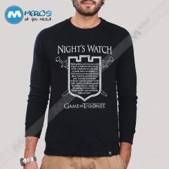 آستین بلند سویشرتی پیمان Nights Watch