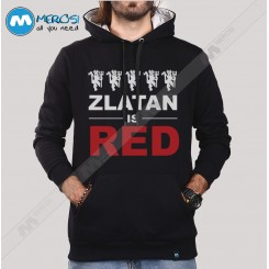 سویشرت Zlatan Is Red Text