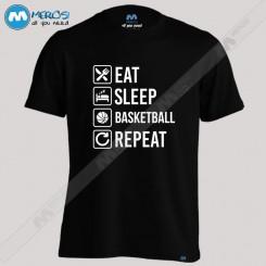 تیشرت Eat Sleep Basketball