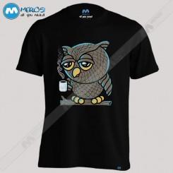 تیشرت طرح Owl Want Coffe