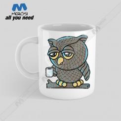 ماگ طرح Owl Wants Coffee