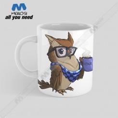 ماگ طرح Hipster Owl