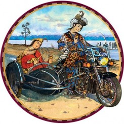 تیشرت طرح موتورسیکلت